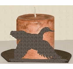Flying Duck Silhouette Candle Holder