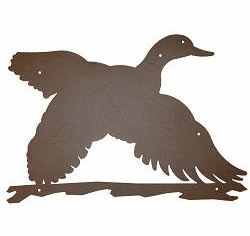 Flying Duck Silhouette Wall Art