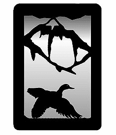 Flying Duck Small Accent Mirror Wall Art