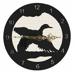Flying Duck Smooth Edge Rustic Clock