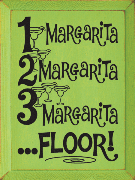 Food & Drink Sign...1 Margarita, 2 Margarita, 3 Margarita ...Floor