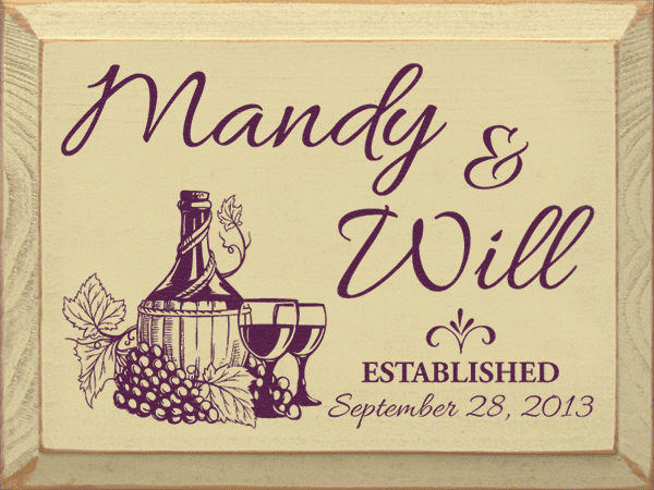 Food & Drink Sign...Custom First Names - Established - Custom Date
