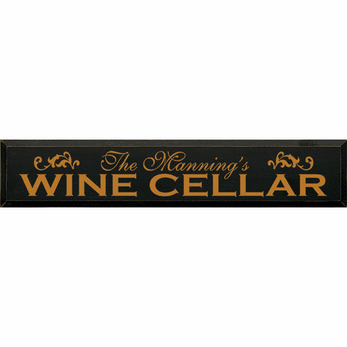 Food & Drink Sign...Custom Name - Wine Cellar