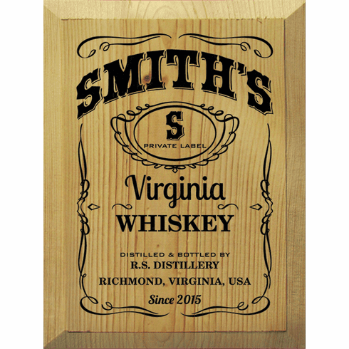 Food & Drink Sign...Custom Whiskey Label