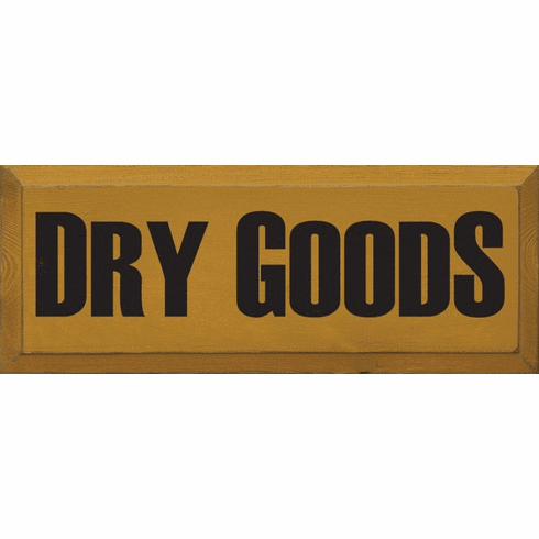 Food & Drink Sign...Dry Goods