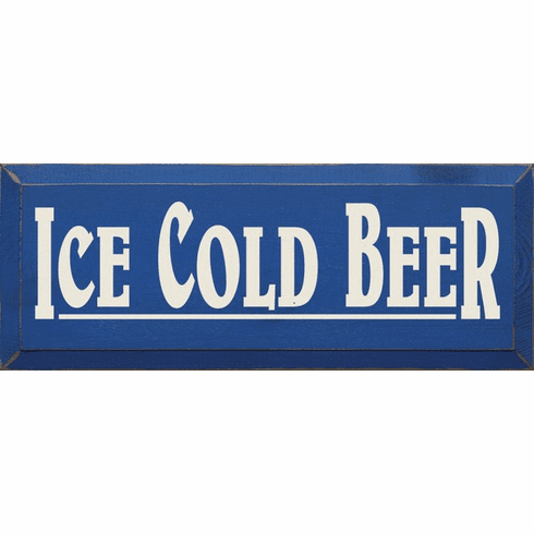 Food & Drink Sign...Ice Cold Beer
