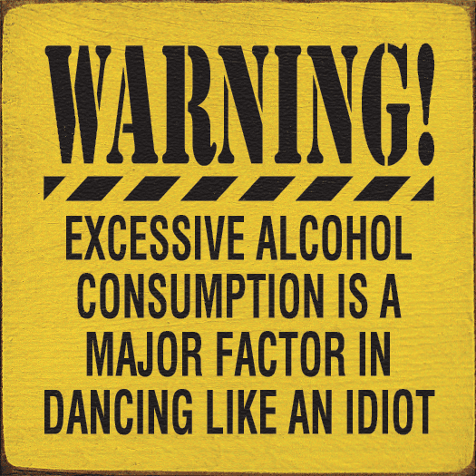 Food & Drink Sign...Warning! Excessive Alcohol Consumption Is A Major Factor In