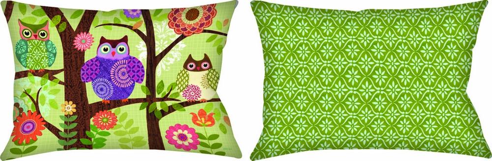 Forest Owls Climaweave Pillow