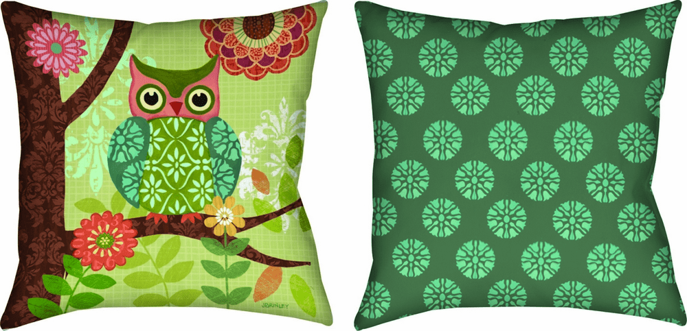 Forest Owls Climaweave Reversible Pillow