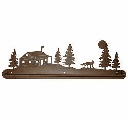 Fox and Cabin Scenery Towel Bar