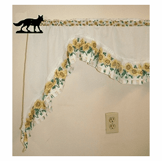Fox Curtain Rod Holder Pair