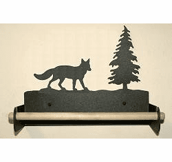 Fox Paper Towel Holder With Wood Bar