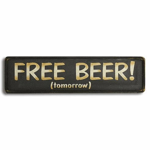 FREE BEER (tomorrow)