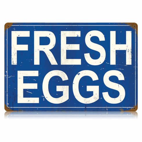 Fresh Eggs Sign - Country Farm Kitchen Sign