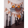 Frightful Happy Halloween Pennant Banner, set of 2