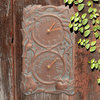 Fruit Bird Indoor Outdoor Wall Clock & Thermometer - Copper Verdigris