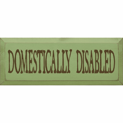 Funny Sign...Domestically Disabled