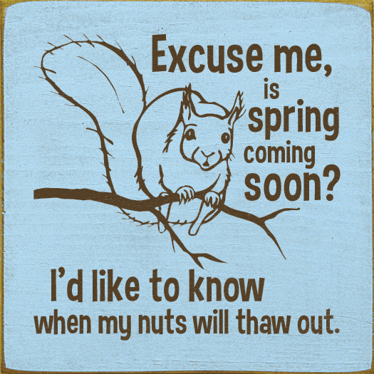 Funny Sign...Excuse Me, Is Spring Coming Soon