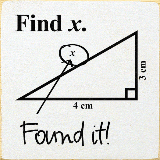 Funny Sign...Find X. (Triangle) Found It