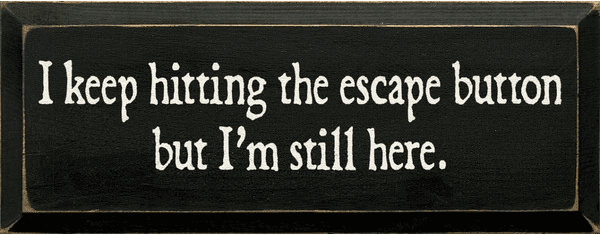 Funny Sign...I Keep Hitting The Escape Button But I'm Still Here