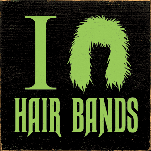 Funny Sign...I Love Hair Bands