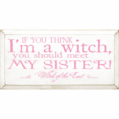 Funny Sign...If You Think I'm A Witch, You Should Meet My Sister