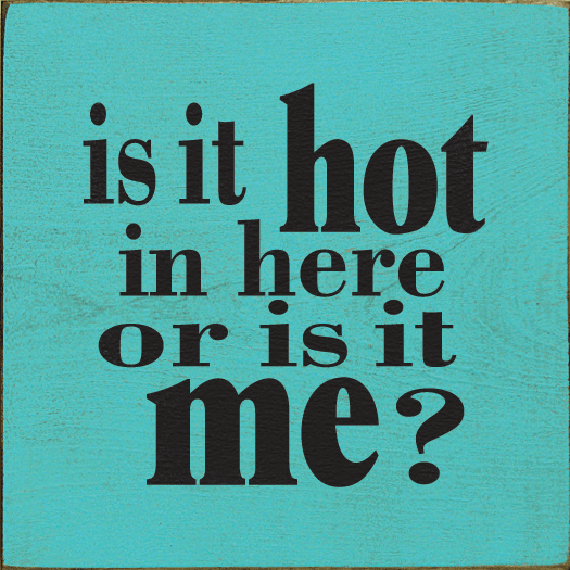 Funny Sign...Is It Hot In Here Or Is It Me