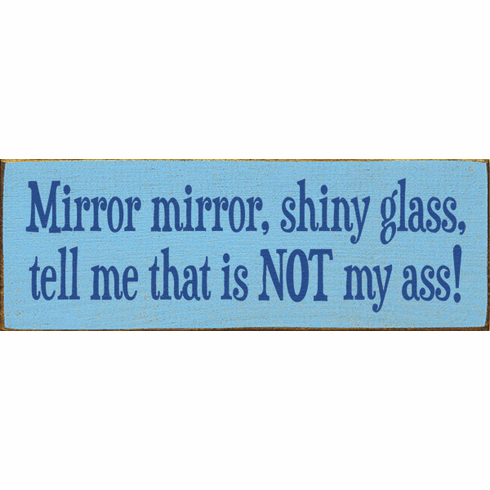 Funny Sign...Mirror Mirror, Shiny Glass, Tell Me That Is Not My Ass