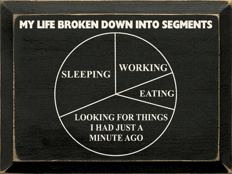 Funny Sign...My Life Broken Down Into Segments... (Funny Chart)