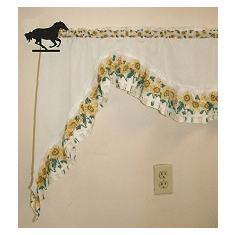 Galloping Horse Curtain Rod Holder Pair