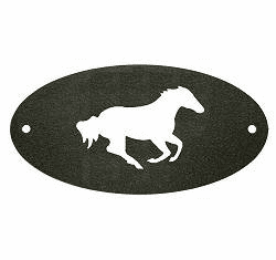Galloping Horse Door Plaque