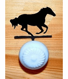 Galloping Horse Drawer Knob Backing Plate