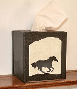 Galloping Horse Facial Tissue Box Cover