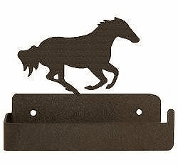 Galloping Horse One Piece Toilet Paper Holder