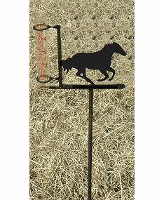 Galloping Horse Rain Gauge - Wild Horse Decoration