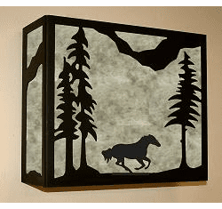 Galloping Horse Rectangular Sconce