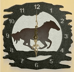 Galloping Horse Rough Edge Wall Clock