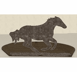 Galloping Horse Silhouette Candle Holder
