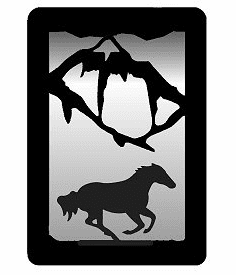 Galloping Horse Small Accent Mirror Wall Art