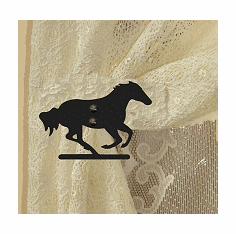 Galloping Horse Swag Holder Pair