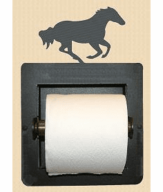 Galloping Horse Toilet Paper Holder (Recessed)