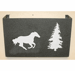 Galloping Horse Wall Mount Magazine Rack