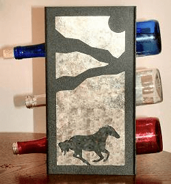 Galloping Horse Wine Bottle Rack