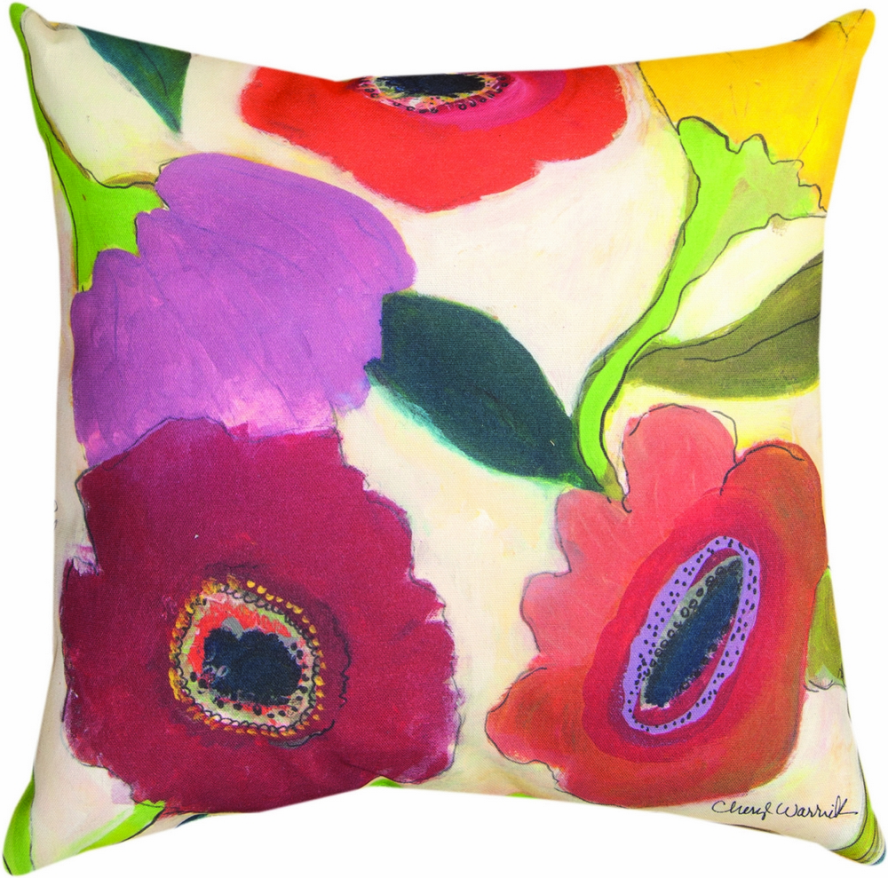 Garden and Flowers II Climaveave Pillow