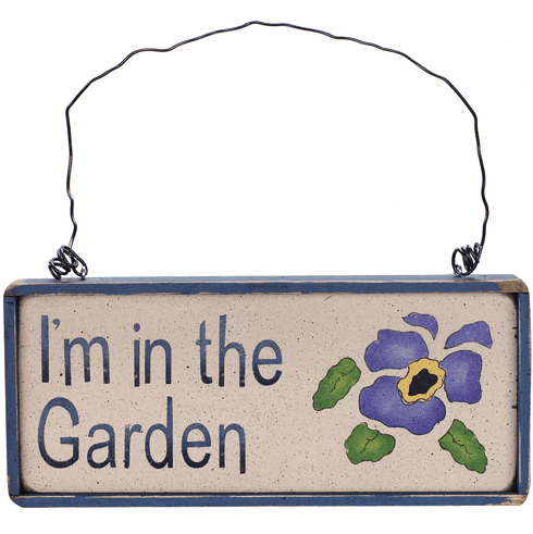 Garden Gift - I'm In The Garden (Pansy)