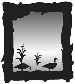 Geese Mirror
