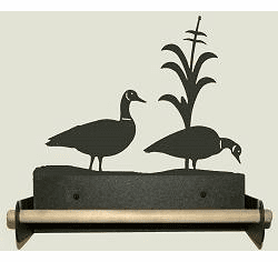 Geese Paper Towel Holder With Wood Bar