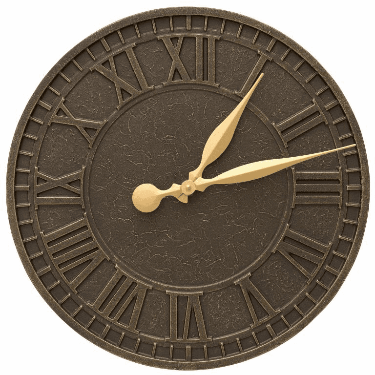 Geneva 16 inches Indoor Outdoor Wall Clock - French Bronze