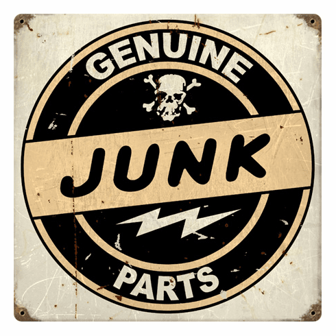 Genuine Junk Parts - Funny Garage Sign