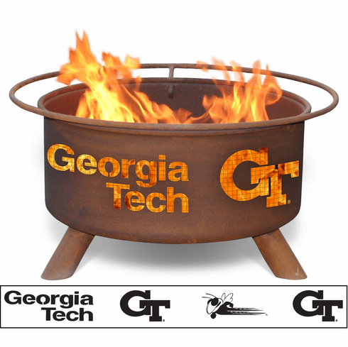 Georgia Tech Yellow Jackets College Logo Fire Pit